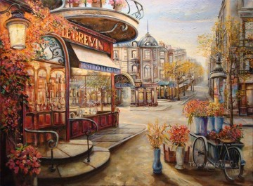 UX006 European Towns Oil Paintings